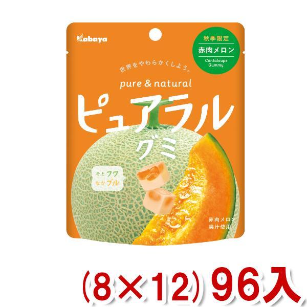 カバヤ ピュアラルグミ 赤肉メロン (8×12) 96入 (Y12) (ケース販売) 本州一部送料無料