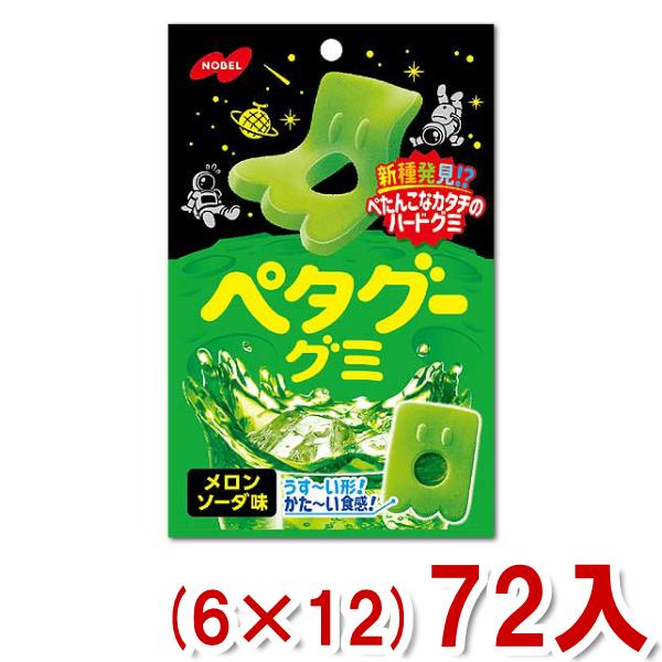 ノーベル 50g ペタグーグミ メロンソーダ (6×12)72入 (Y12)(ケース販売) 本州一部送料無料