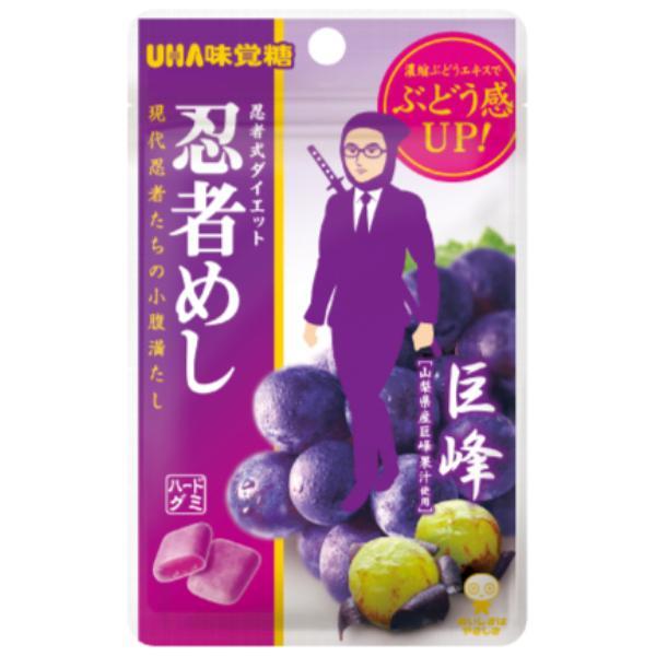 味覚糖 旨味シゲキックス 忍者めし 巨峰味 10入