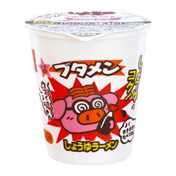 おやつカンパニー ブタメン(しょうゆ) 37g×15入 (ミニカップラーメン 駄菓子)
