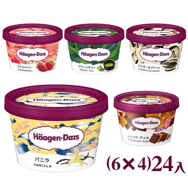 ハーゲンダッツ ミニカップ (6×4)24入 4つ選んで、本州一部冷凍送料無料