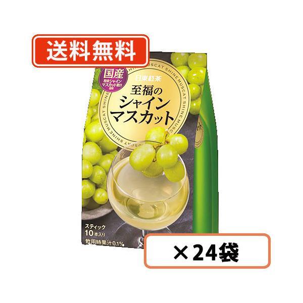 【送料無料(一部地域を除く)】日東紅茶 至福のシャインマスカット 10本入×24袋