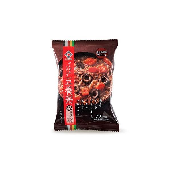 送料無料(一部地域を除く) 養命酒 やくぜんシリーズ 五養粥 赤 三種のハーブ&トマト味 *  フリーズドライ 20.4g×60個