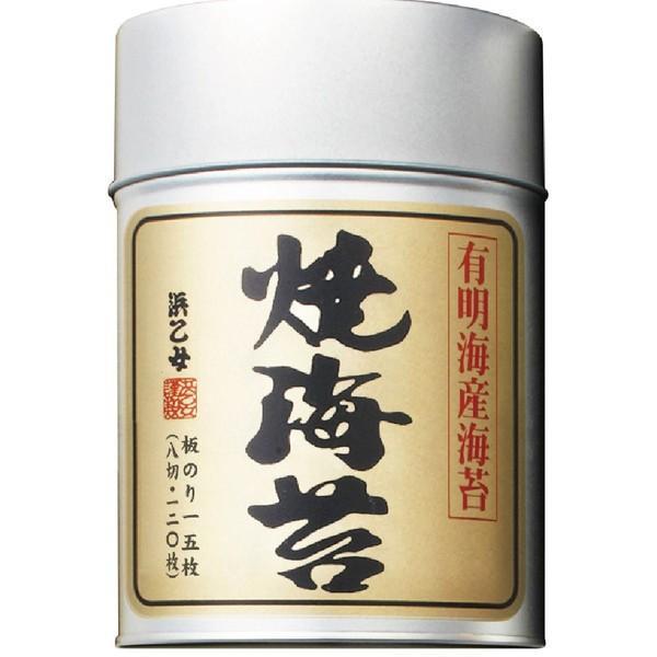浜乙女 焼のり 有明 丸缶 8切120枚 ×6缶