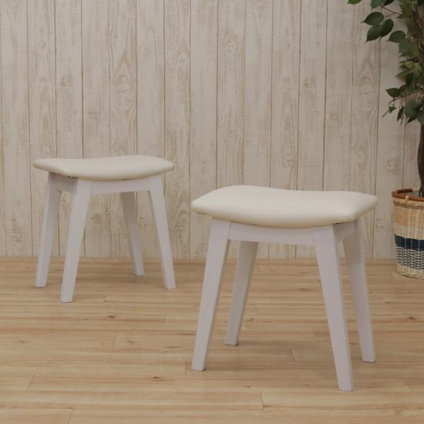 スツール 2脚セット ホワイト 完成品 クッション 幅42cm 44cs128-2ch-360wh 白色 ベンチチェア 玄関椅子 チェア サイドチェア 補助椅子 イス 3s-1k-128 hr|takara21|04