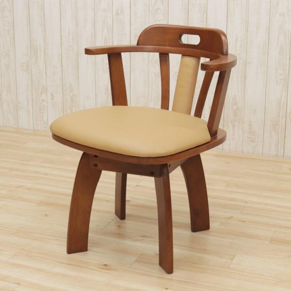 アウトレット 回転イス ダイニングチェア 肘付き椅子  2脚セット 木製 肘付き ワイドタイプ bist2-360 ライトブラウン ミドルブラウン 161|takara21|07