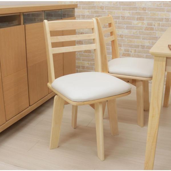 ダイニングテーブルセット 4点 回転椅子 ベンチ付 幅120cm meri120-4-hop371 kent クリア ナチュラル 白木 木製 天然木 アウトレット 10s-3k hg|takara21|09