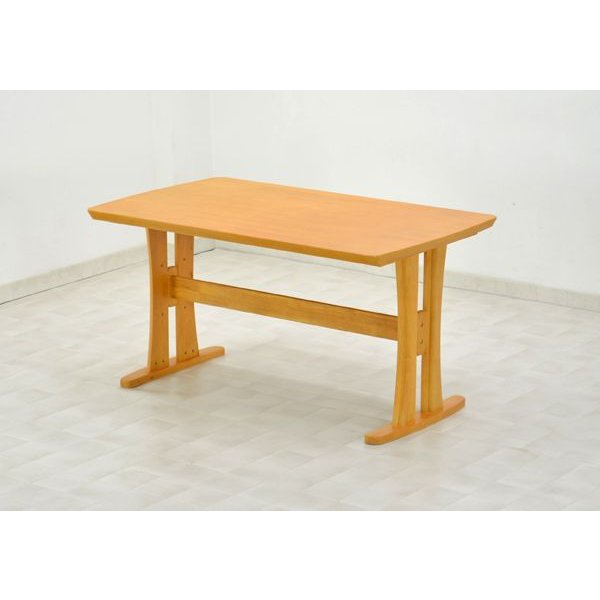 ダイニングテーブル サイズ 135cm morisu-360-kureo  ライトブラウン色 木製 4人掛け おすすめ 机 食卓|takara21