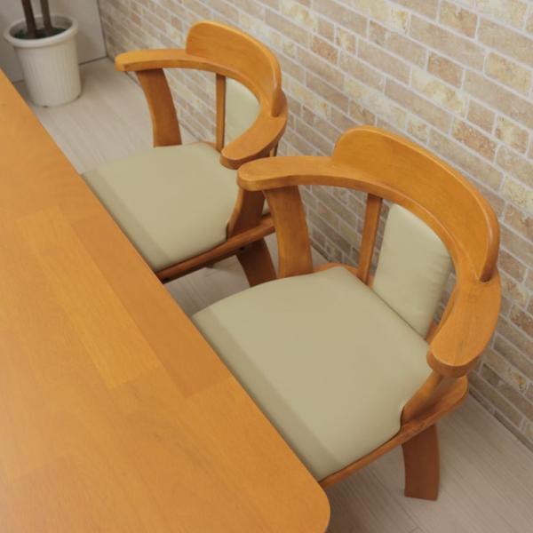 ダイニングテーブルセット 回転椅子 5点セット ミドルブラウン色 ライトブラウン色 4人 135cm bist135-5-moris360  木製 シンプル アウトレット 19s-3k hg so|takara21|13