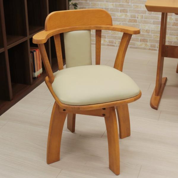 ダイニングテーブルセット 回転椅子 5点セット ミドルブラウン色 ライトブラウン色 4人 135cm bist135-5-moris360  木製 シンプル アウトレット 19s-3k hg so|takara21|14