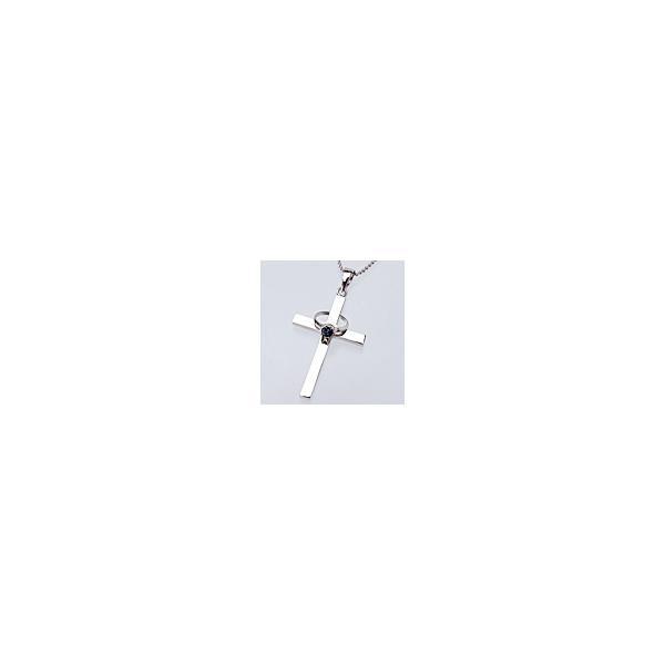 クロス&ベビーリング サファイヤ(9月誕生石)【刻印あり】