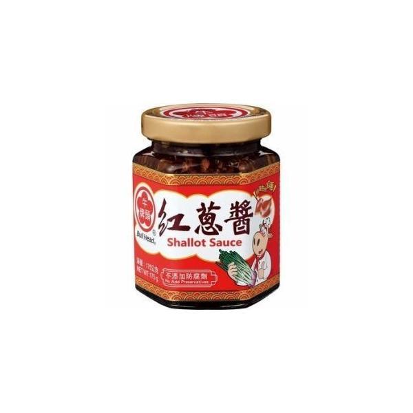 【送料無料/代引不可】牛頭牌 紅葱醤175g×4瓶セット 【赤ねぎソース】台湾産香味ソース