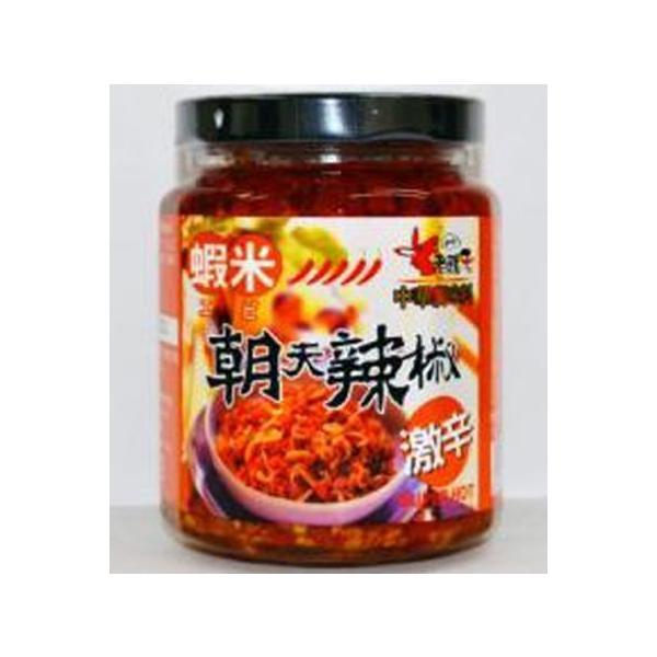 老騾子 蝦米朝天辣椒醤 105g/小瓶 台湾干しえび入り激辛口唐辛子具入りラー油