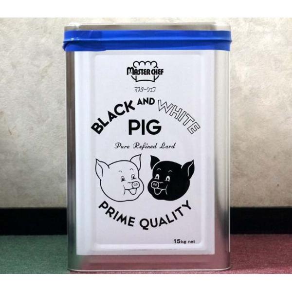 豊年リーバ ブラック&ホワイトピッグラード 15kg/1缶【純製ラード】J-オイルミルズ日本製国産ラード一斗缶