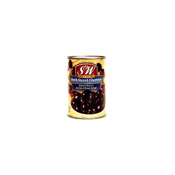 S&W ダークスィートチェリー(紫さくらんぼ種抜き)425g/缶 フルーツ缶詰