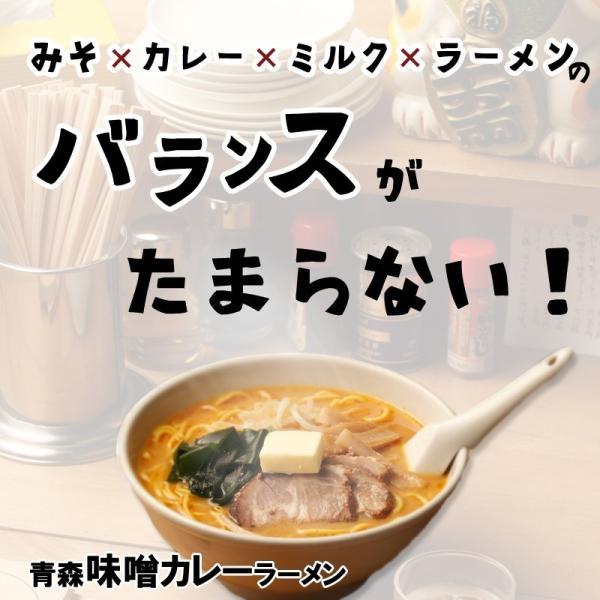 青森味噌カレーラーメン 家庭用8食 半生麺 常温保存OK  トッピングわかめ付きB級グルメ 送料無料 takasago-mejya 02