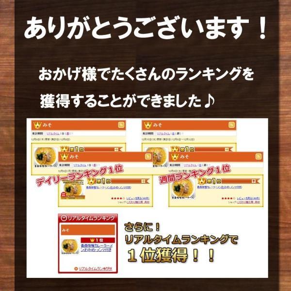 青森味噌カレーラーメン 家庭用8食 半生麺 常温保存OK  トッピングわかめ付きB級グルメ 送料無料 takasago-mejya 08