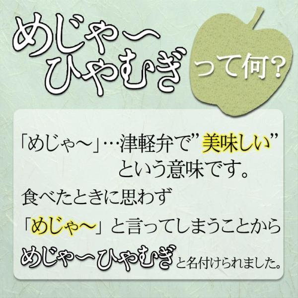 めじゃーひやむぎ お徳用10食入り ほうれん草使用 青森県産りんご繊維入り 常温60日間保存可能 夏季限定 送料無料|takasago-mejya|04