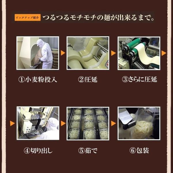 送料無料 青森なべ焼うどん 10食 常温保存 100日 お取り寄せ鍋 セット 天ぷら 麩 付き|takasago-mejya|06