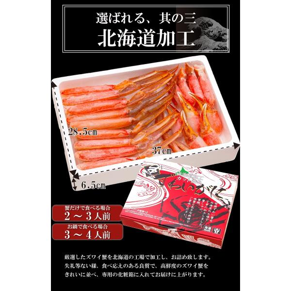 ズワイガニ ポーション ズワイ蟹 かにしゃぶ 1.2kg 生ずわいがに カット済み ポイント消化 takasui 02