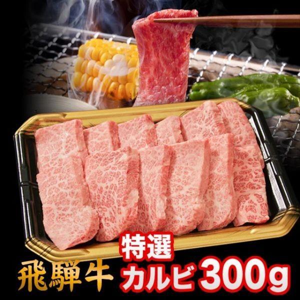 飛騨牛 A5 A4 ランク 牛肉 焼き肉用 ギフト 焼肉用 牛 特選カルビ 300g 約2人前