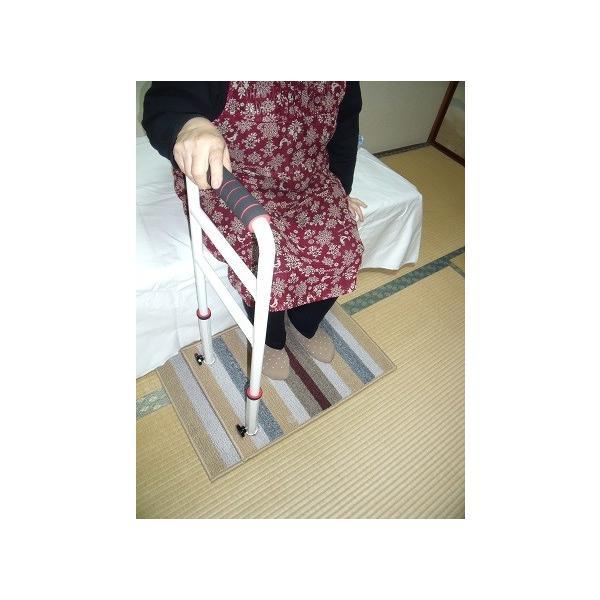立つ之助 ラブ 立ち上がり補助手すり 倒れない安心感 スチール素材 オフホワイト 日本製 takei-co 02