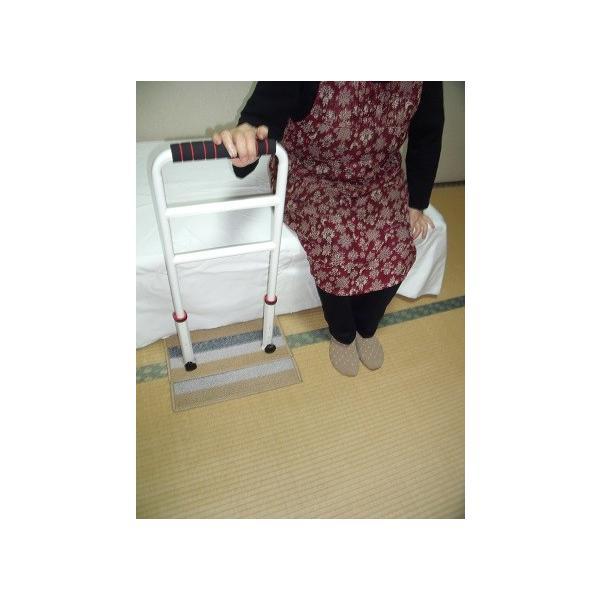 立つ之助 ラブ 立ち上がり補助手すり 倒れない安心感 スチール素材 オフホワイト 日本製 takei-co 03