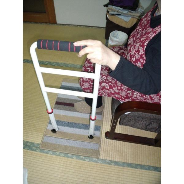 立つ之助 ラブ 立ち上がり補助手すり 倒れない安心感 スチール素材 オフホワイト 日本製 takei-co 04