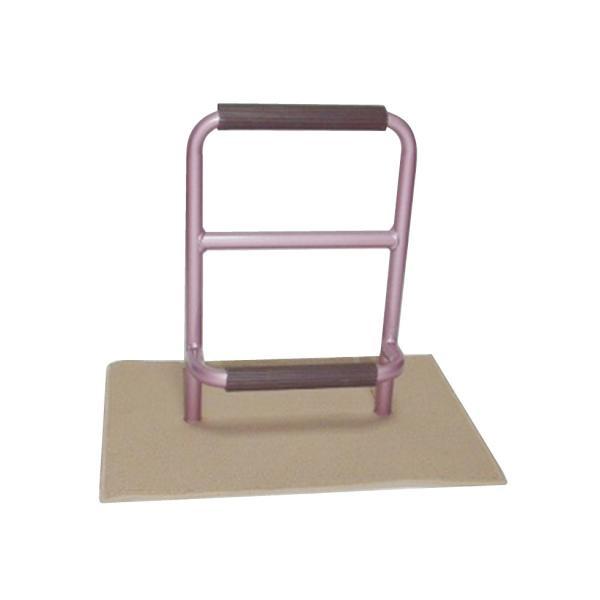 立つ之助 元気 立ち上がり補助手すり 掴まる所が2つで便利 介護 布団 和室 座敷 など スチール素材 あずき色 日本製|takei-co|02