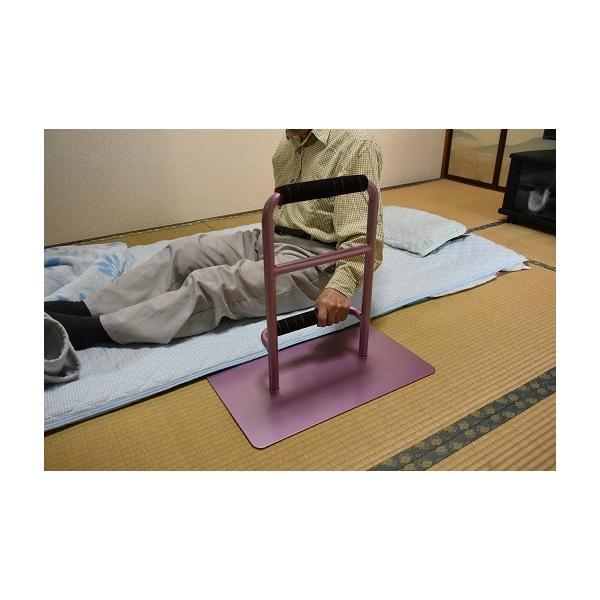 立つ之助 元気 立ち上がり補助手すり 掴まる所が2つで便利 介護 布団 和室 座敷 など スチール素材 あずき色 日本製|takei-co|04