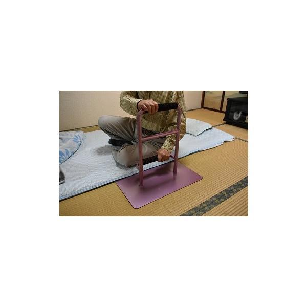 立つ之助 元気 立ち上がり補助手すり 掴まる所が2つで便利 介護 布団 和室 座敷 など スチール素材 あずき色 日本製|takei-co|05