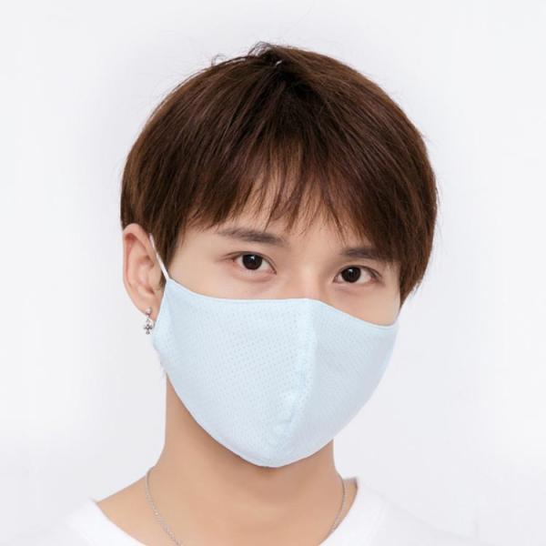 送料無料接触冷感マスク 大人用マスク 洗える 2枚セット ひんやり 夏用マスク 繰り返し使える 涼しいマスク 布 水洗いOK  大人用 UVカット 立体 日焼け|takeoff-inc|02