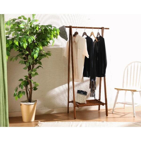 送料無料 天然木製ハンガーラック  ブラウン 折りたたみハンガー 衣類収納 RCP  北海道・沖縄・離島へは配送できません