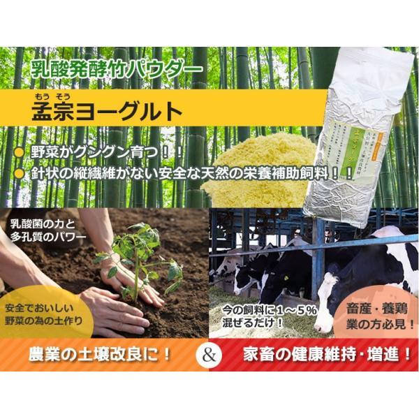 竹粉 竹パウダー エサ・飼料添加物 乳酸菌の力で鶏、牛、豚などのサプリメントに!孟宗ヨーグルト1kg(アルミ真空パック) |takepanda