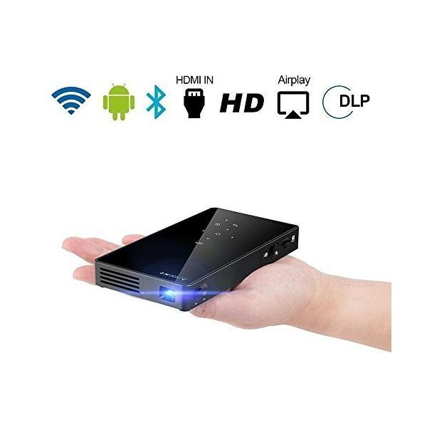 PTVDISPLAY 小型 プロジェクター 1080PフルHD対応 WIFIホームシアター DLP ビデオプロジェクター 台形補正 パソコン