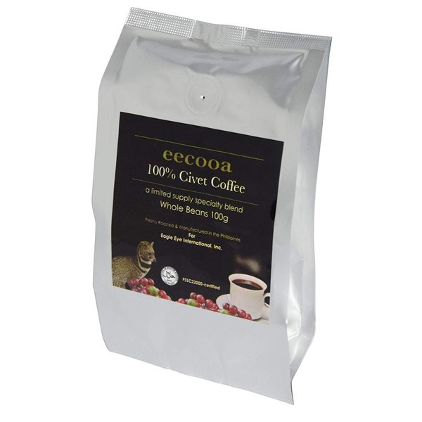 エクーア シベットコーヒー 豆 100% フィリピン産ジャコウネココーヒー(コピルアク) (100gアラビカ種)|takes-shop|03