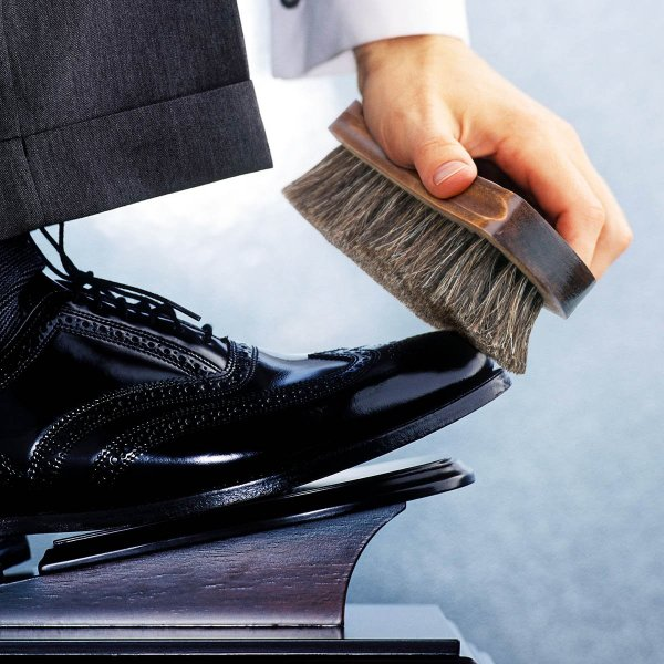 Himart 靴ブラシ 馬毛 2枚 靴磨き ブラシ100% 天然馬毛ブラシ ブーツ 靴 その他のレザーケア用 (2枚)