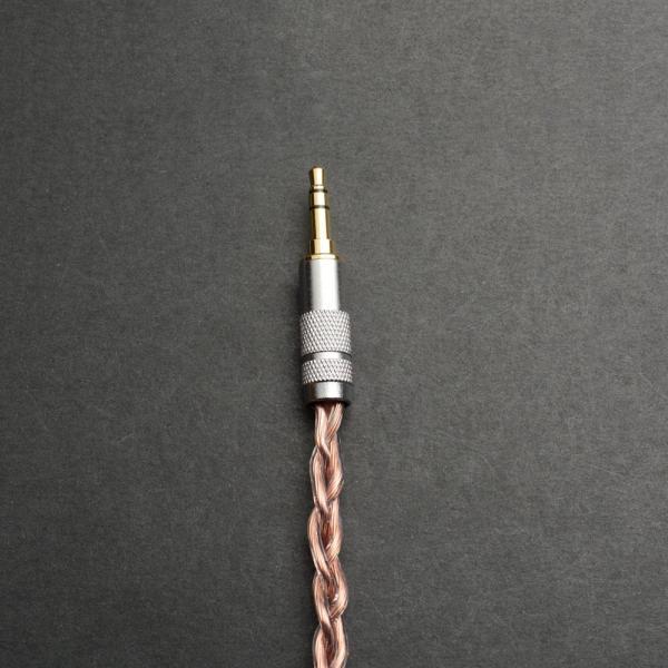 Woodhifi LCSO オーディオケーブル ステレオケーブル 3.5mm ヘッドホンアンプ 向け 長さ:15cm 片側L型(オス-オス)