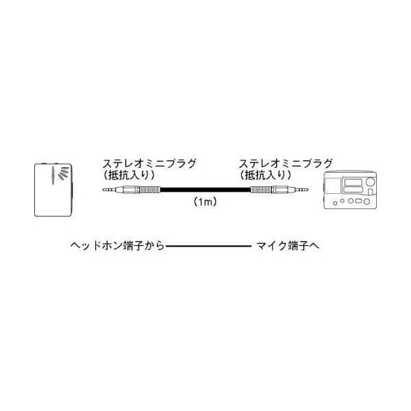 SONY ステレオミニプラグケーブル(抵抗入り)1.0m RK-G134