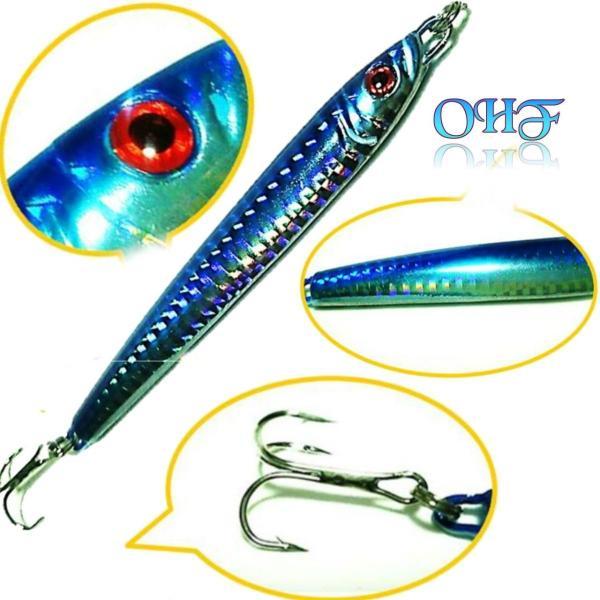 OHF メタルジグ セット 30g 9.5? 5個 40g 10.5? 5個 計 10個 ルアー セット タチウオ ヒラメ マゴチ シイラ