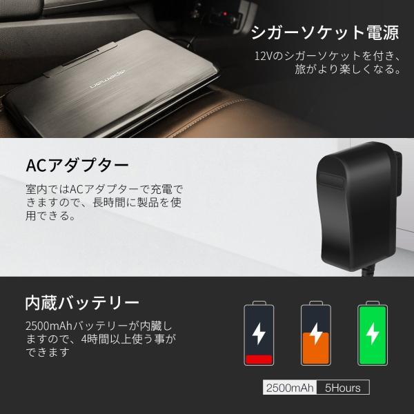 APEMAN ポータブルDVDプレイヤー 7.5インチ 車載 小型超軽量 180度回転式リージョンフリー 再開再生可