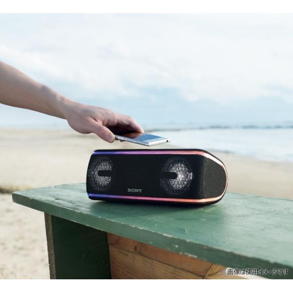 ソニー SONY ワイヤレスポータブルスピーカー SRS-XB41 W : 防水/防塵/防錆/Bluetooth/専用スマホアプリ対応 ライ