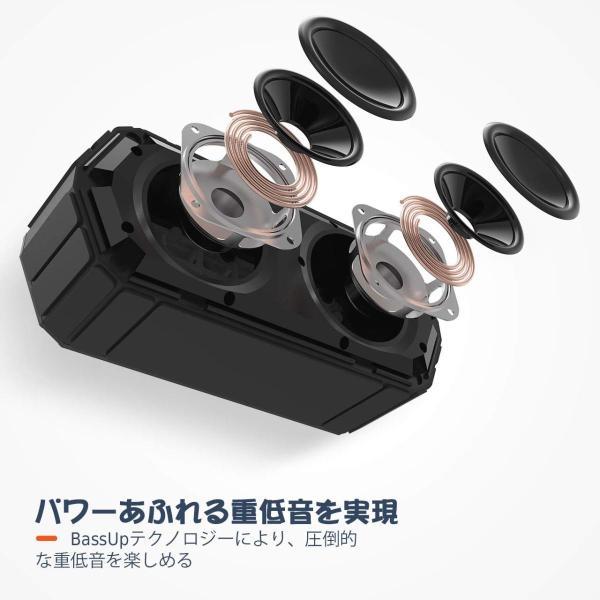 Mpow Bluetoothスピーカー ワイヤレススピーカー IPX6防水規格/15時間連続再生/内蔵マイク搭載/ポータブル ブルートゥース