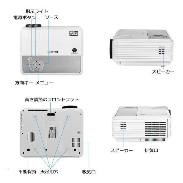 LEDプロジェクターホームシアター Bluetoothスピーカー接続 WiFiプロジェクター 3600ルーメン 1080p対応 無線接続 B