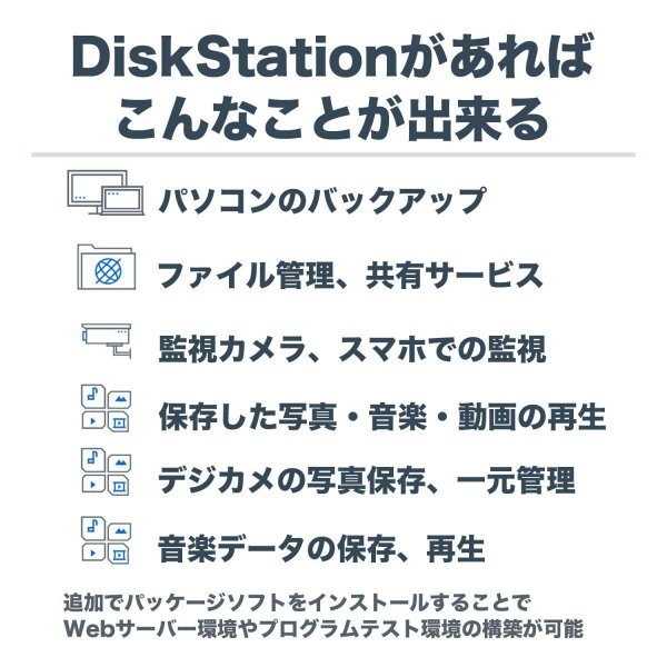 NASキット+ガイドブック付Synology DiskStation DS218j/JP 2ベイ / デュアルコアCPU搭載 / 512MB|takes-shop|02