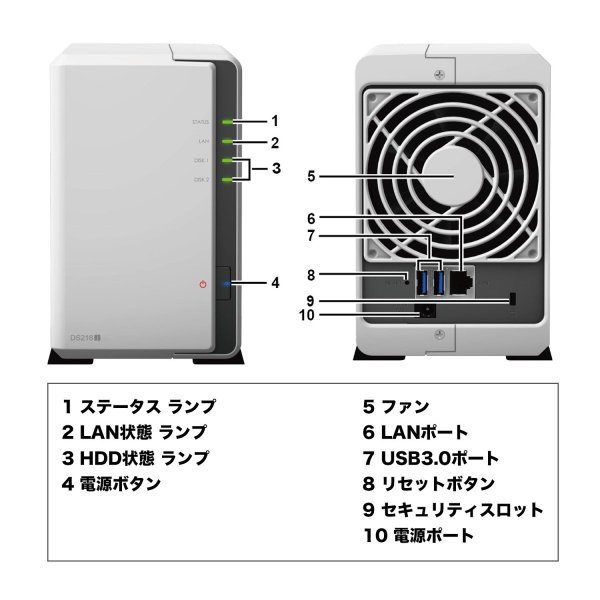 NASキット+ガイドブック付Synology DiskStation DS218j/JP 2ベイ / デュアルコアCPU搭載 / 512MB|takes-shop|11