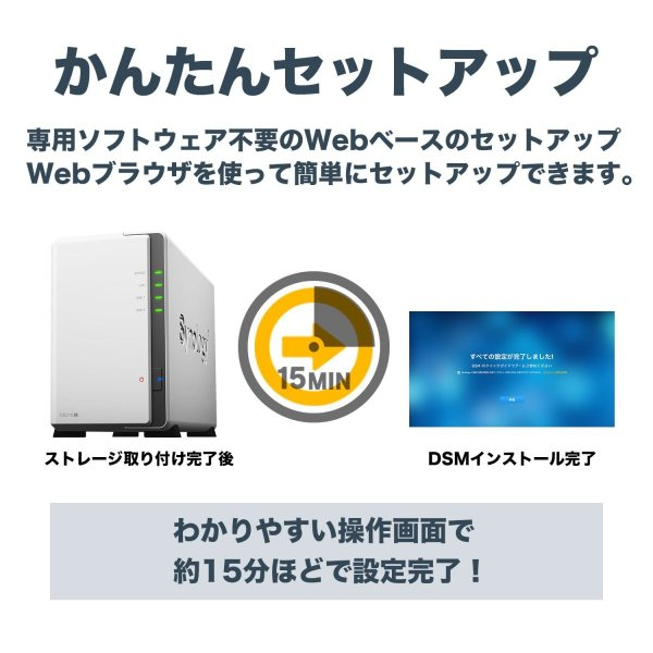 NASキット+ガイドブック付Synology DiskStation DS218j/JP 2ベイ / デュアルコアCPU搭載 / 512MB|takes-shop|04