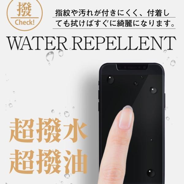 iPhone XR ガラスフィルム ブルーライトカット 簡単装着ガイド付き 日本製素材 硬度9H 指紋防止 気泡防止 自動吸着 ラウンドエッ|takes-shop|02