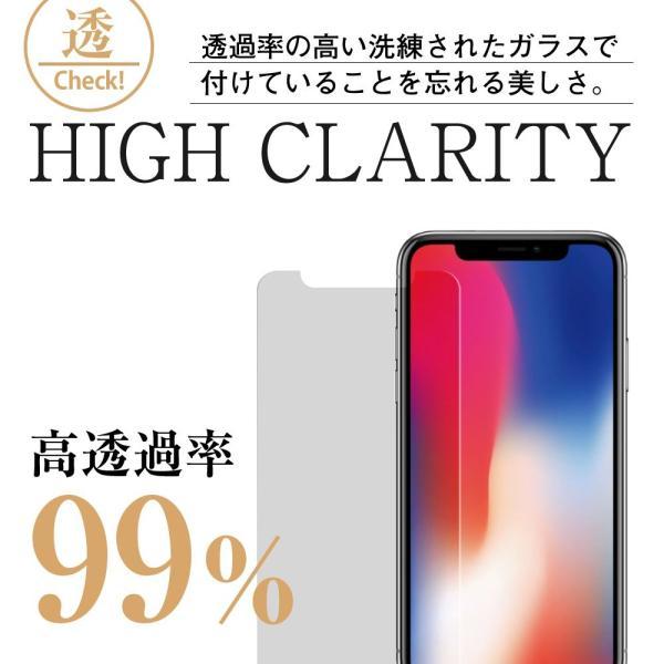 iPhone XR ガラスフィルム ブルーライトカット 簡単装着ガイド付き 日本製素材 硬度9H 指紋防止 気泡防止 自動吸着 ラウンドエッ|takes-shop|06