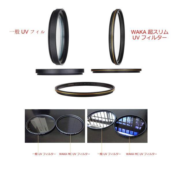 77mm レンズフィルター MC UV フィルター-ウルトラスリム16層多層加工 薄枠 紫外線保護 99%透過率 Canon Nikon S|takes-shop|04